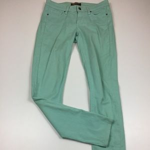 PAIGE Peg Super Skinny Light Green Jeans